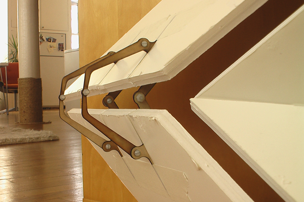Kinetic wall for Movement architecture concept